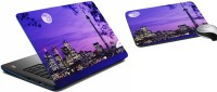 MeSleep Blue Night City Laptop Skin 231 Combo Set (Multicolor)