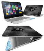 FineArts Ohm Metal 4 in 1 Laptop Skin Pack with Screen Guard, Key Protector and Palmrest Skin