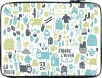 Snoogg Lifestyle Pattern 2562 12 Inch Expandable Sleeve/Slip Case (Multicolor)