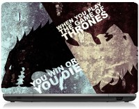 ClickToSolve When You Play The Game Of Thrones You Win Or You Die Vinyl Laptop Decal (Laptops - 15.6 Inches)