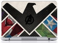 WebPlaza Avengers Logo 3 Skin Vinyl Laptop Decal (All Laptops With Screen Size Upto 15.6 Inch)
