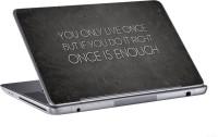 AV Styles You Only Live Once Skin Vinyl Laptop Decal (All Laptops)