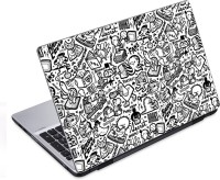 EzyPRNT Black And White Sketched Doodle (14 To 14.9 Inch) Vinyl Laptop Decal 14 (Dell Laptop, HP Laptop, Lenovo Laptop, Acer Laptop, Samsung Laptop, Toshiba Laptop, Apple Laptops)