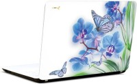 Pics And You Flowers And Butterfly Vinyl Laptop Decal (Laptops And Macbooks)