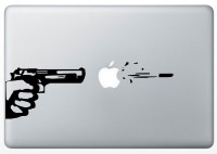 Stickkart All Apple Macbook Pro & Air Gun Shoot Matte Vinyl Laptop Decal (All Macbook Pro & Air)