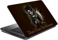 MeSleep Black Funny Face Vinyl Laptop Decal (All Laptop Skin)