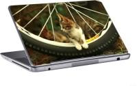 AV Styles Cute Cat On Tyre Skin Vinyl Laptop Decal (All Laptops)