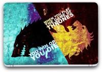 Saledart Game Of Thrones House Stark Vs House Lannister Vinyl Laptop Decal (Laptop)