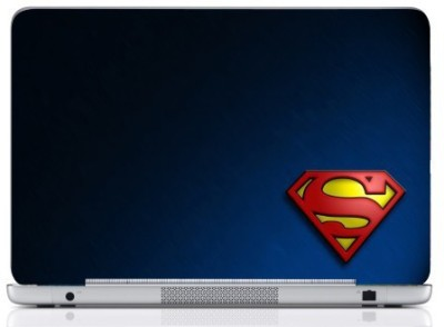 WebPlaza Superman Logo Laptop Skin Vinyl Laptop Decal (All Laptops With Screen Size Upto 15.6 Inch)