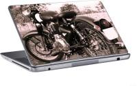 AV Styles Black And White Royal Enfield Classic Bike Skin Vinyl Laptop Decal (All Laptops)