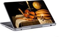 AV Styles Guitar Flute And Globe Skin Vinyl Laptop Decal (All Laptops)