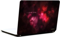 Pics And You I Love You Abstract Vinyl Laptop Decal (Laptops And Macbooks)