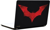 Pics And You Batman Logo Red 3M/Avery Vinyl Laptop Decal (Laptops And MacBooks)