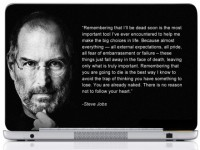 WebPlaza Steve Jobs Quotes Laptop Skin Vinyl Laptop Decal (All Laptops With Screen Size Upto 15.6 Inch)