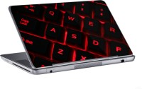 AV Styles Red Qwerty Keyboard Skin Vinyl Laptop Decal (All Laptops)