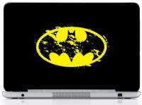 WebPlaza Batman Logo Yellow Black Skin Vinyl Laptop Decal (All Laptops With Screen Size Upto 15.6 Inch)