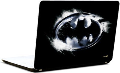 Pics And You Batman Logo Black And Grey Vinyl Laptop Decal (Laptops And Macbooks)