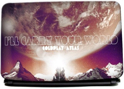 Hawtskin Coldplay I Will Carry Your World Laptop Skin Vinyl Laptop Decal (All Laptops)
