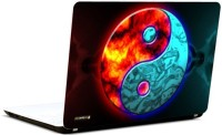Pics And You 3D Yin And Yang Vinyl Laptop Decal (Laptops And Macbooks)
