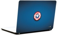 Pics And You Captain America Logo On Blue Vinyl Laptop Decal (Laptops And Macbooks)