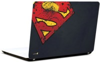 Pics And You Superman Logo Bashed Vinyl Laptop Decal (Laptops And Macbooks)