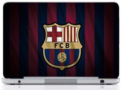 WebPlaza Fcb Pink And Blue Skin Vinyl Laptop Decal (All Laptops With Screen Size Upto 15.6 Inch)