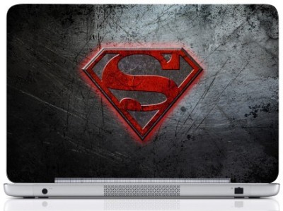 WebPlaza Superman Logo Gray Laptop Skin Vinyl Laptop Decal (All Laptops With Screen Size Upto 15.6 Inch)