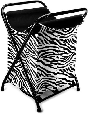 Buy Swayam White Black Laundry Basket On Flipkart