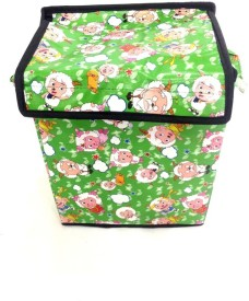 FabLooms 3 L Green Laundry Bag
