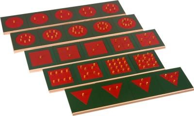 Kidken Learning & Educational Toys Kidken Montessori Fractions Set: Circles, Squares & Triangles Metal