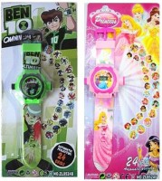 CSM Combo Of Two Projector Watch Princess & Ben10 (Pink, Green)