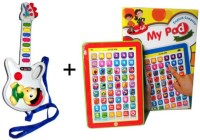 FairToys Combo Of Prasid Musical Guitar And Mini English My Pad (Multicolor)