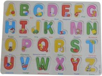 Intra Wooden Alphabet Puzzle (Brown)