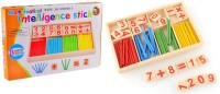 Kuhu Creations Kids Mathematical Intelligence Stick Learning Toy Wooden Number Blocks And Counting Rods Box Toys Set For Kids Children Early Education (Multicolor)