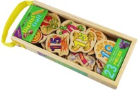 QISIWEI 23 Piece Wooden Magnetic Cutout Stickers In Wooden Carry Case For Kids (Multicolor)