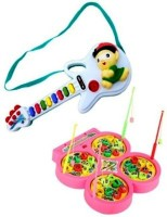 Turban Toys Combo Of Fish Catching Game With Mini Musical Guitar (Multicolor)