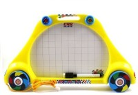 I-Gadgets 2 In 1 Car Learning Slate With Wheels (Multicolor)