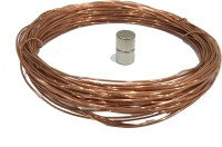 TechtoneMagnetics Copper Wire 20 Meter With 2pcs 13mm Diameter Magnets For Electric Train Project (Grey)