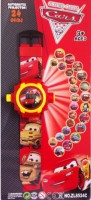 LAVIDI Lightning Mcqueen Projector Watch For Kids (24 Images) (Red)