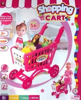Jaibros Super Fun Mini Shopping Cart Trolley With Toy Food Play (Multicolor)