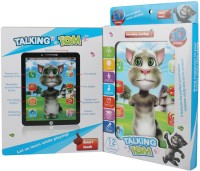 Just Toyz 3 D Interactive Learning Talking Tom Tablet Large Screen Size Imported High Quality Loaded With Features (Multicolor)
