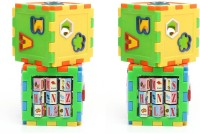 New Pinch Play And Learn All In One Cubes Game For Kids (Pack Of 2) (Multicolor)