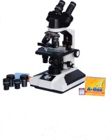 E.S.A.W Esaw Pathological Doctor Compound Student Binocular Microscope, 40x-1500x Mag., Led Illumination With Semi-Plan Achro Objectives And Kit(Containing 50 Blank Slides+Cover Slips+Cleaning Cloth+Dust Cover) (White)