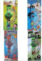 Users Kids_DEL To DSS 4 Projector Watches With 24 Images Of All Character (Blue, Green, Multicolor)