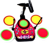 Khareedi Electronic Junior Jazz Drum Beat Set With Mp3 Plug-In + Microphone + Pedal Mechanism + Adjustable Heights (Multicolor)