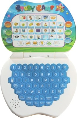 Littlegrin Apple Shaped Study Game Kids Mini Laptop (Multicolor)