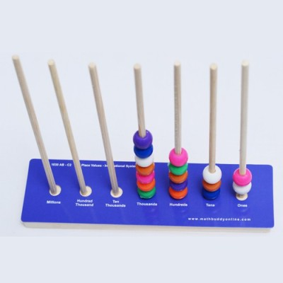 Math Buddy Labs Learning & Educational Toys Math Buddy Labs Spiked Abacus with Card