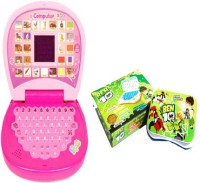 AQUARAS PINK MINI DISPLAY & BEN 10 LEARNING LAPTOP (Multicolor)