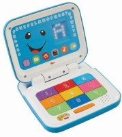 Fisher-Price Laugh & Learn Smart Stages Laptop, Blue/White (Multicolor)