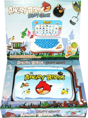 Scrazy Angry Birds Study Game Mini Laptop Toy (Multicolor)